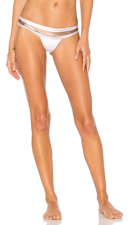 Beach Bunny Tequila Sunrise Skimpy Bikini Bottom in White