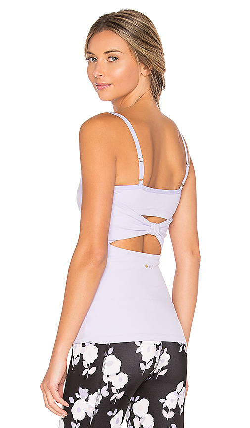 Beyond Yoga x kate spade Cinched Back Bow Tank in Lavender. - size M (also in S,XS)
