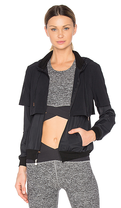 Beyond Yoga Picture Perforated Jacket in Black. - size M (also in S)