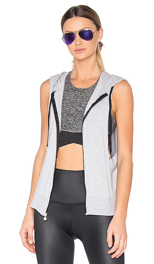 Beyond Yoga Vest Behavior Hoodie in Gray. - size S (also in M,XS)