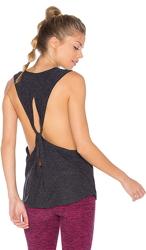 Beyond Yoga Dim The Lightweight Looped Tank in Charcoal. - size XS (also in L,M,S)