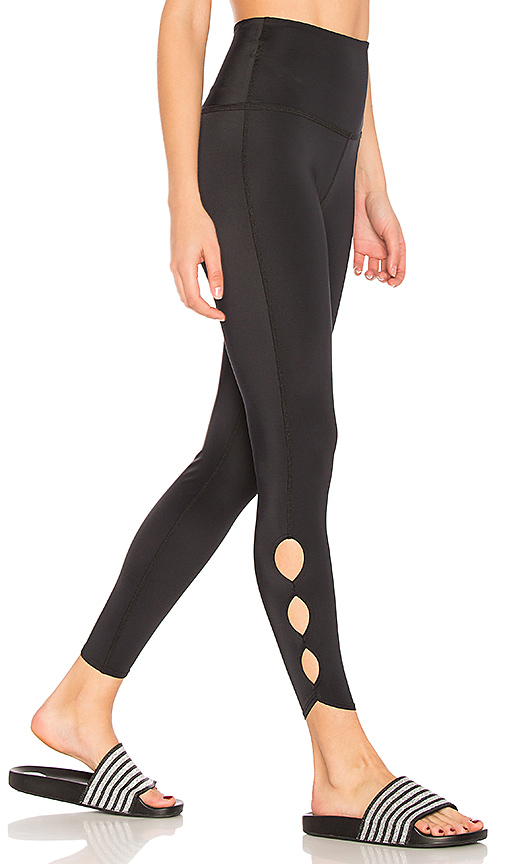 Beyond Yoga Lux Half Moon Legging in Black. - size L (also in M,S,XS)