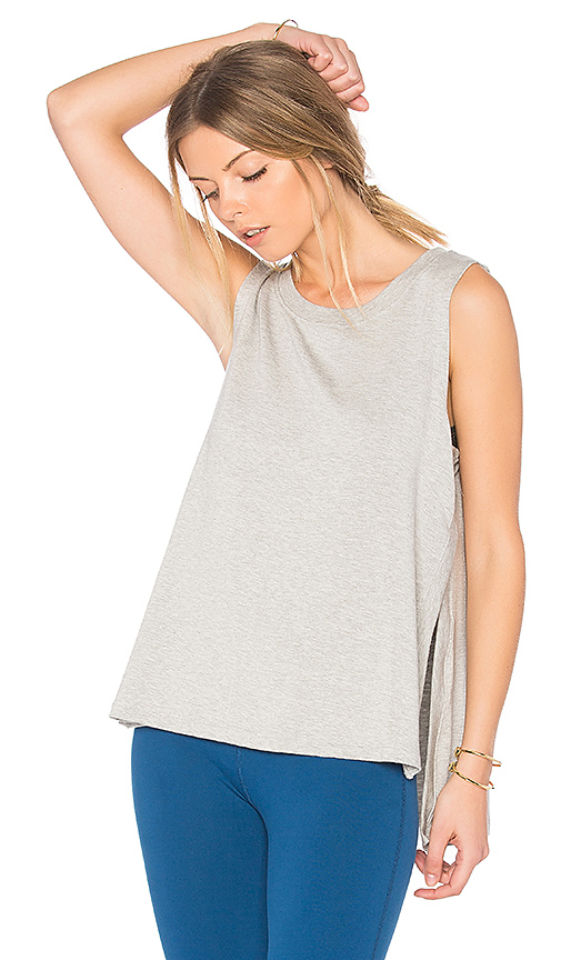 Beyond Yoga High Low Tank in Gray