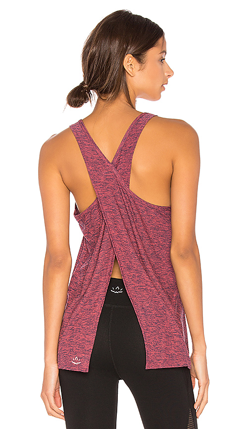 Beyond Yoga Lightweight Crossover Tank in Pink