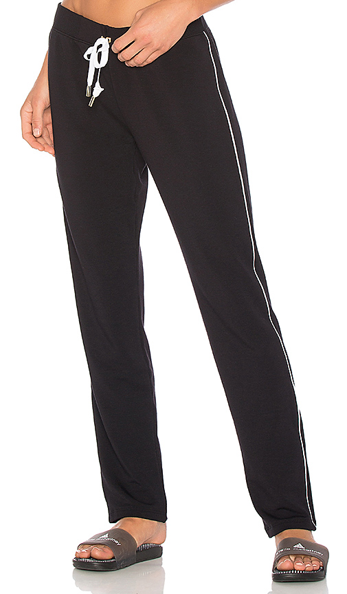 Beyond Yoga x kate spade Tuxedo Piped Sweatpant in Black. - size L (also in M,S,XS)