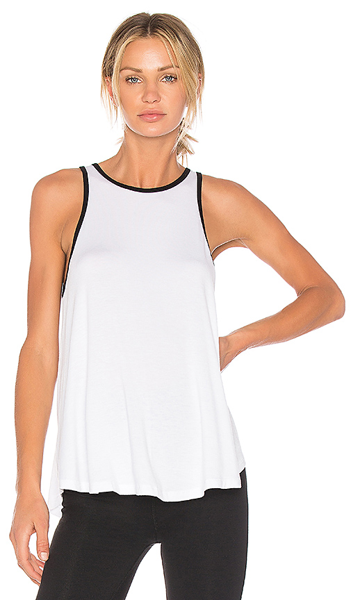 Beyond Yoga x kate spade Leaf Bow Circle Tank in White. - size L (also in M,S,XS)