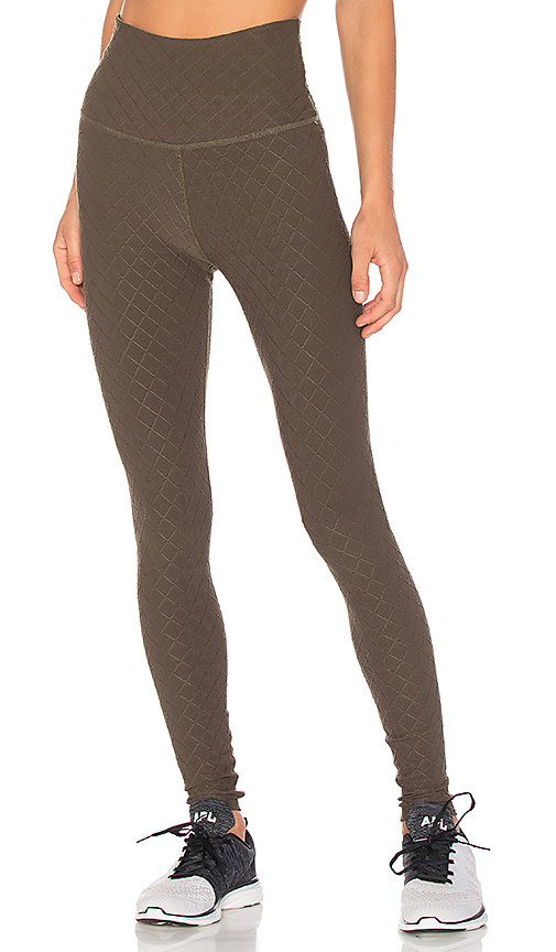 Beyond Yoga Can't Quilt You High Waisted Long Legging in Army. - size L (also in M,S,XS)