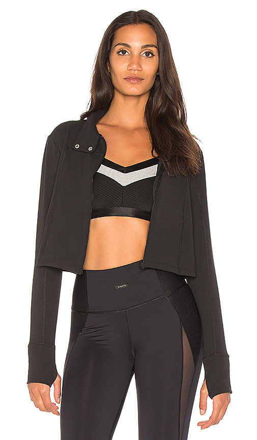 Beyond Yoga Boxed In Cropped Jacket in Black
