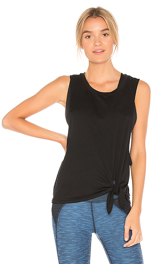 Beyond Yoga All Tied Up Racerback Tank in Black