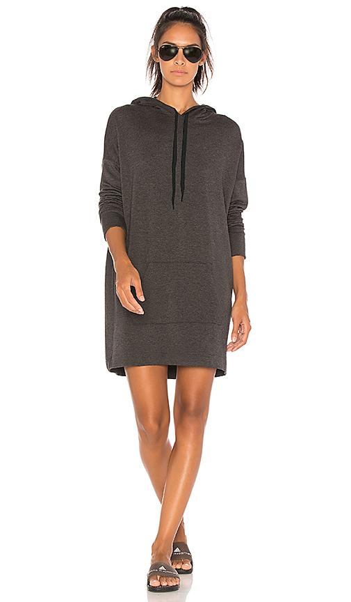Beyond Yoga Hood Times Sweatshirt Dress in Charcoal