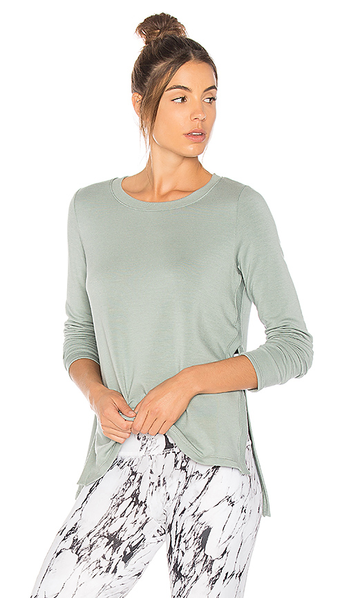 Beyond Yoga Come Together Pullover in Sage
