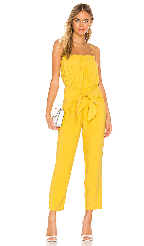 Bcbgeneration Jumpsuits BCBGENERATION STRAPLESS JUMPSUIT IN YELLOW.
