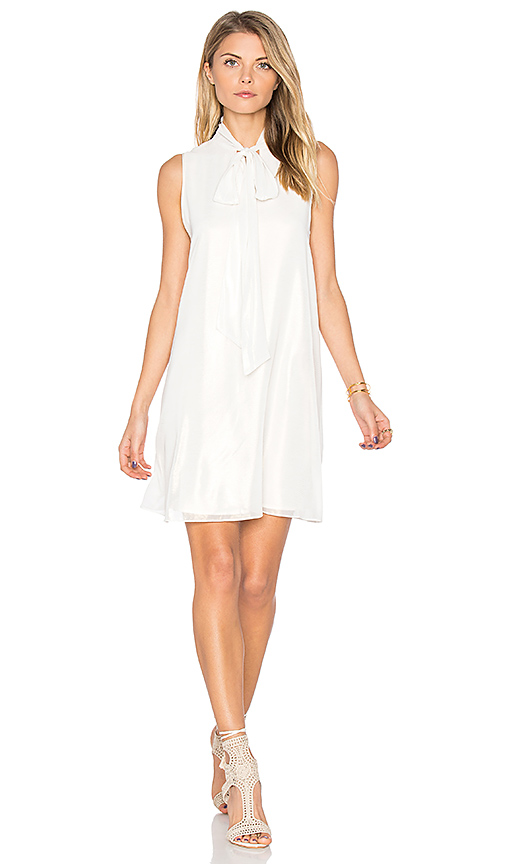 BCBGeneration Tie Neck Dress in White