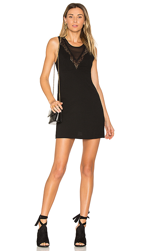 BCBGeneration Baby Doll Dress in Black