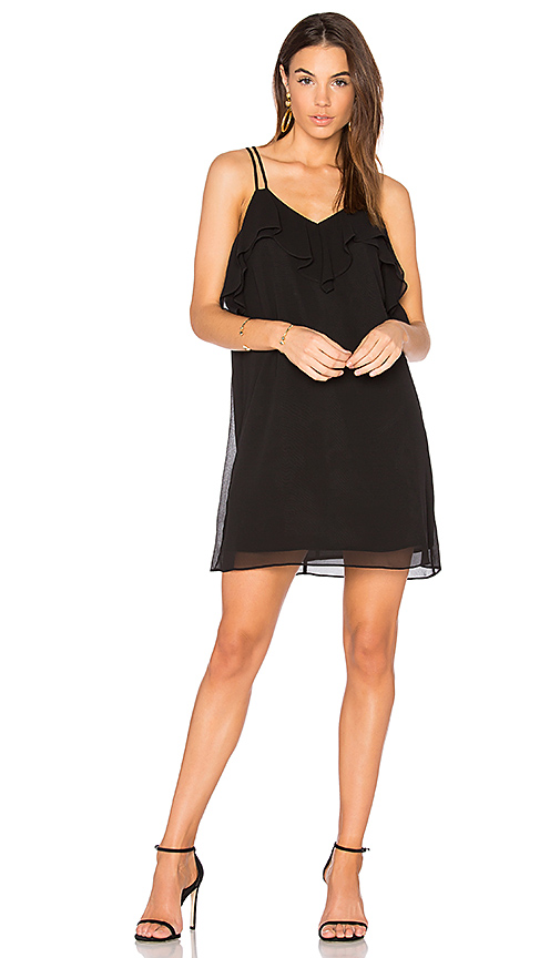 BCBGeneration Ruffled Mini Dress in Black