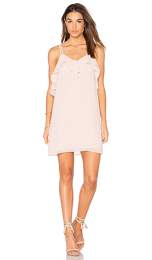 BCBGeneration Ruffled Mini Dress in Blush