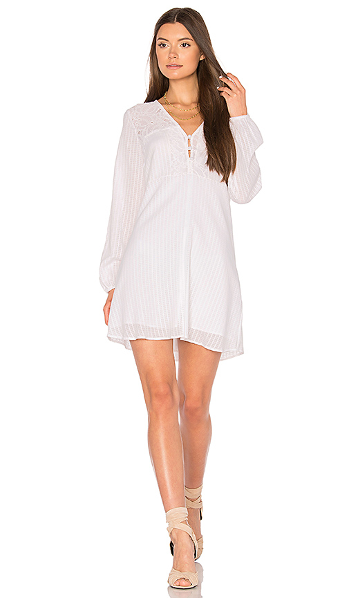 BCBGeneration Airy Button Dress in White