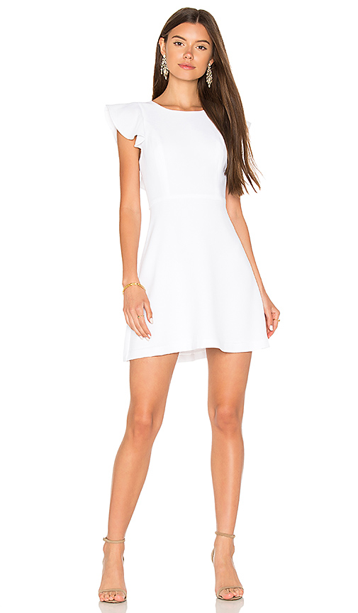 BCBGeneration Ruffle Dress in White