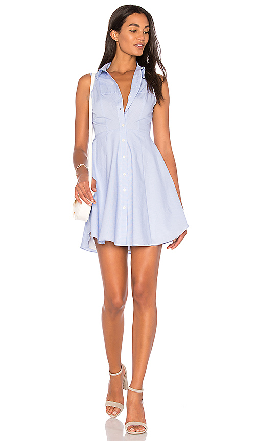 BCBGeneration Collared City Dress in Blue