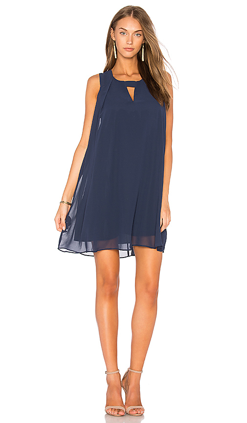 BCBGeneration Pleat A Line Dress in Navy
