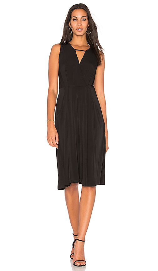 BCBGeneration Drape Midi Dress in Black