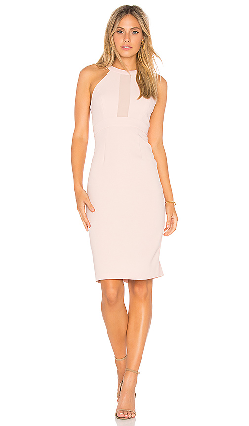 BCBGeneration Contrast Dress in Blush
