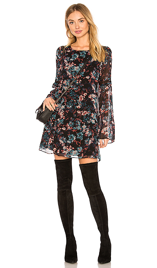 BCBGeneration A-line Dress In Black Combo in Black