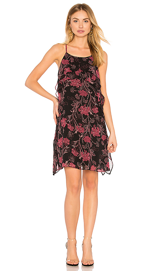 BCBGeneration Ruffle Dress In Black Port Combo in Black