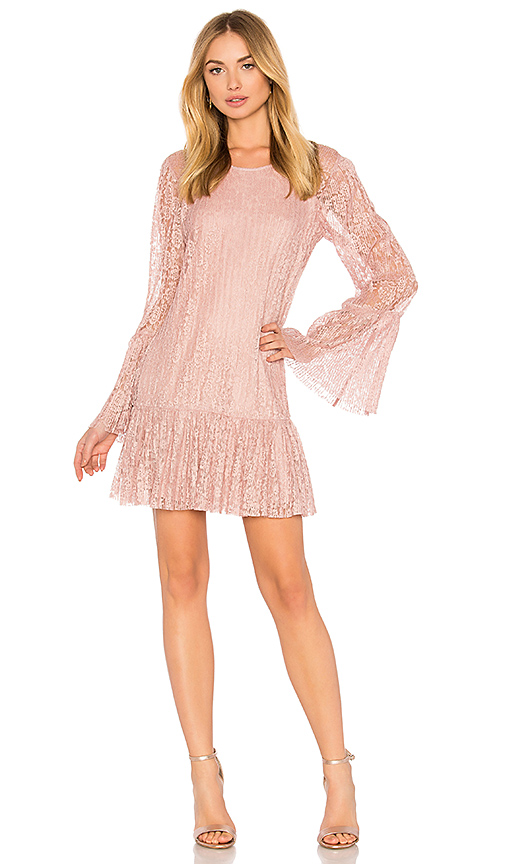 BCBGeneration Double Tiered Dress In Rose Smoke in Pink