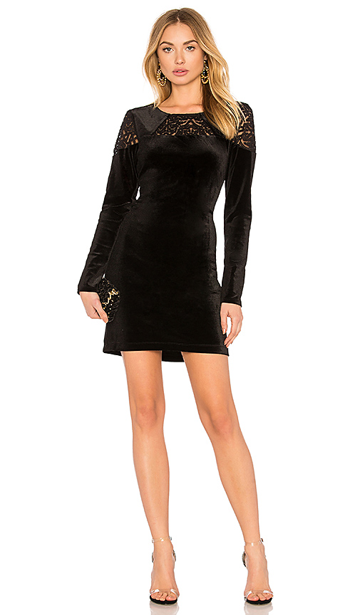 BCBGeneration A Line Dress In Black Combo in Black
