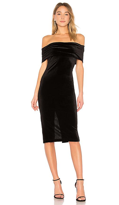 BCBGeneration Off the Shoulder Dress in Black