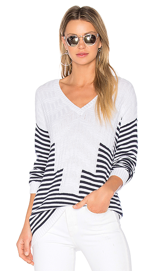 BCBGeneration Striped Sweater in White. - size M (also in S)