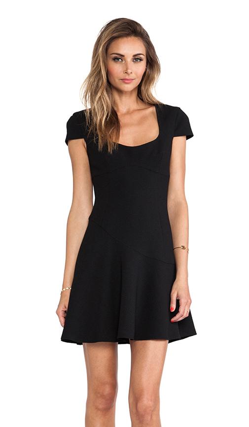 Black Halo Chipley Mini Dress in Black