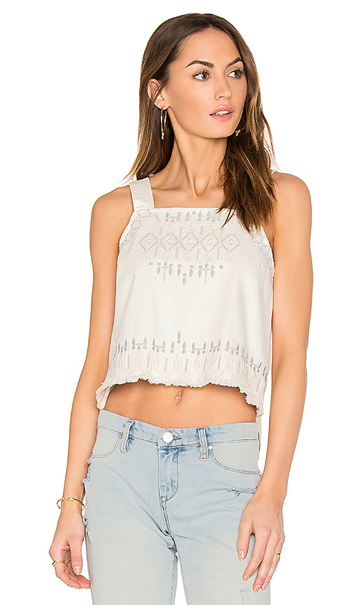 BLANKNYC Embroidered Crop Top in White