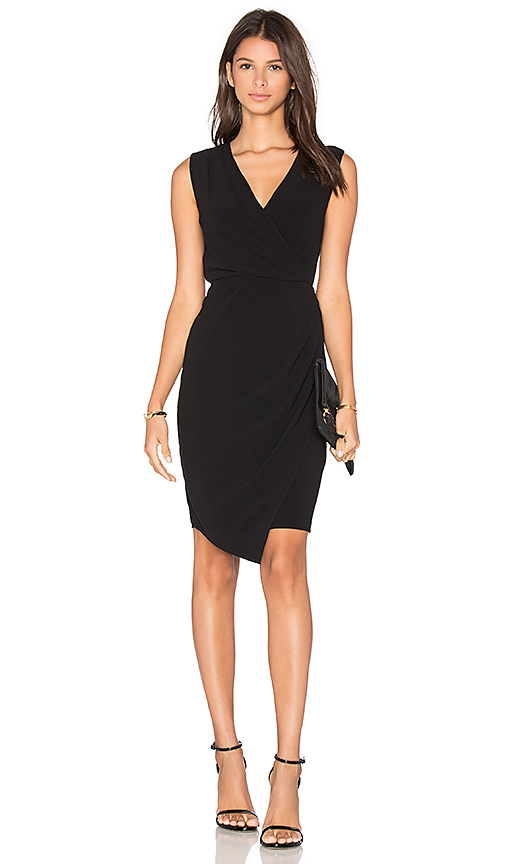 BLAQUE LABEL Wrap Dress in Black. - size M (also in XS)