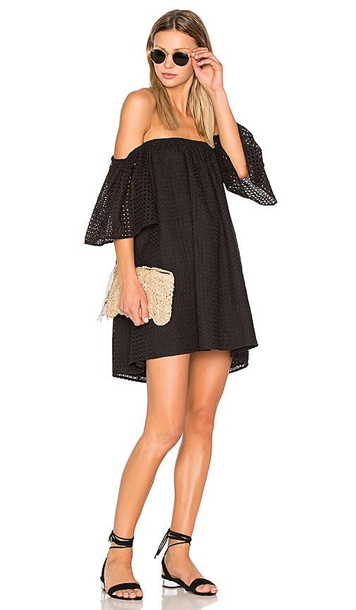 BLAQUE LABEL Eyelet Dress in Black