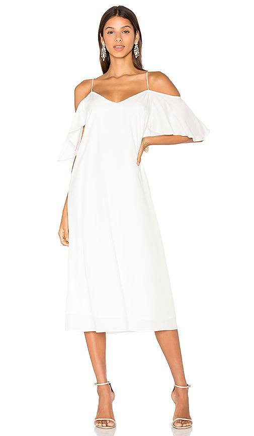 BLAQUE LABEL Cold Shoulder Sun Dress in White