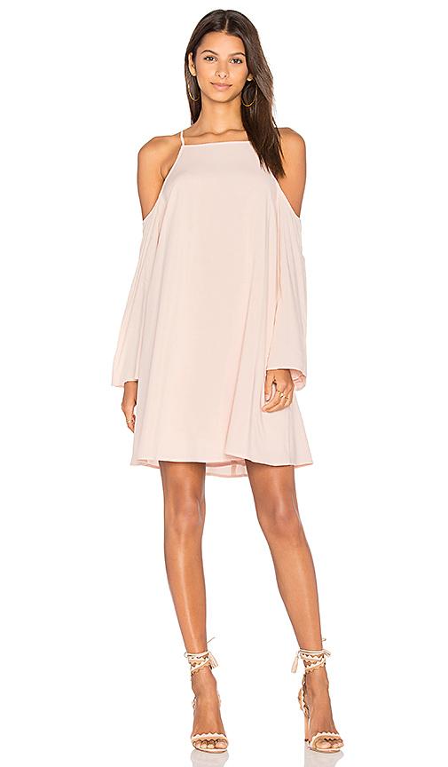BLAQUE LABEL Exposed Shoulder Dress in Blush