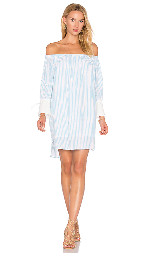 BLAQUE LABEL Striped Dress in Turquoise