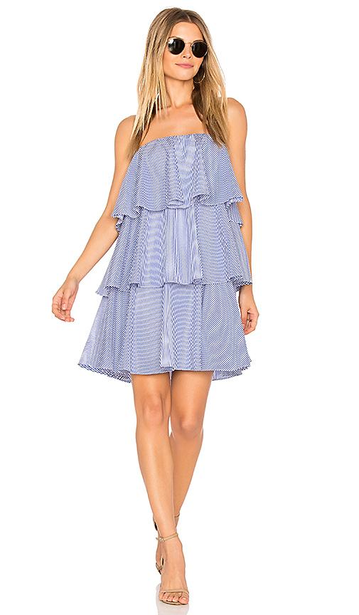 BLAQUE LABEL Preppy Mini Dress in Blue
