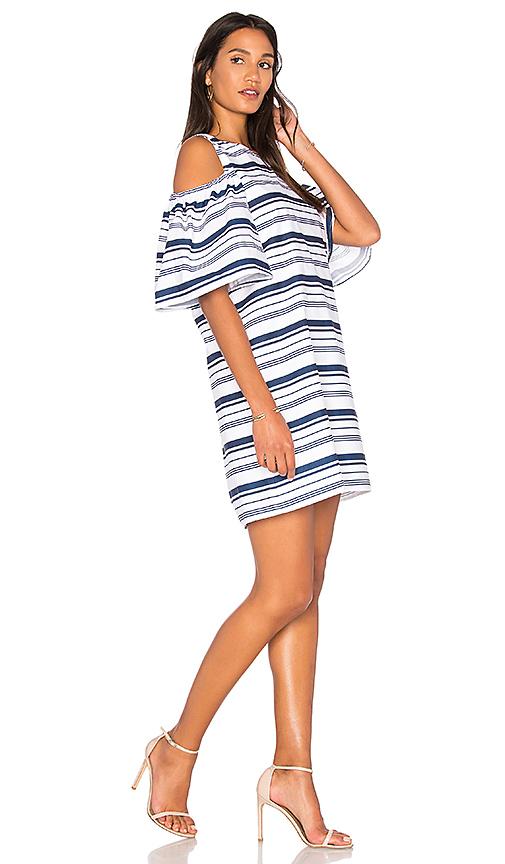 BLAQUE LABEL Striped Poplin Dress in White