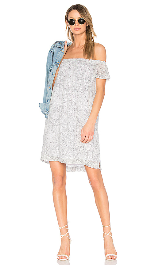 Bella Dahl Off Shoulder Dress in Gray
