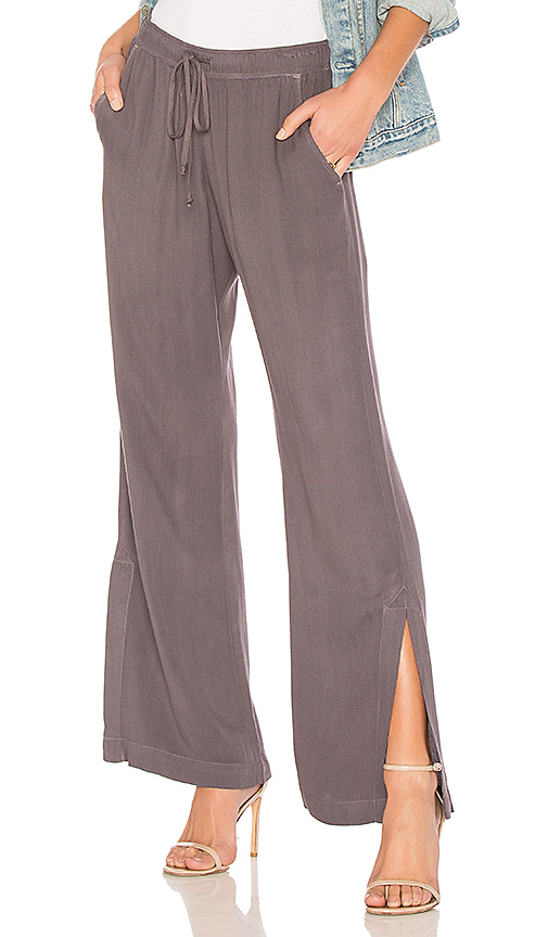 Bella Dahl Wide Leg Pant in Gray. - size S (also in M,XS)