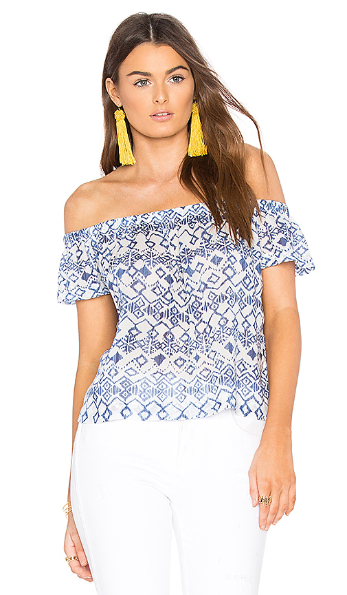 Bella Dahl Off Shoulder Top in Blue