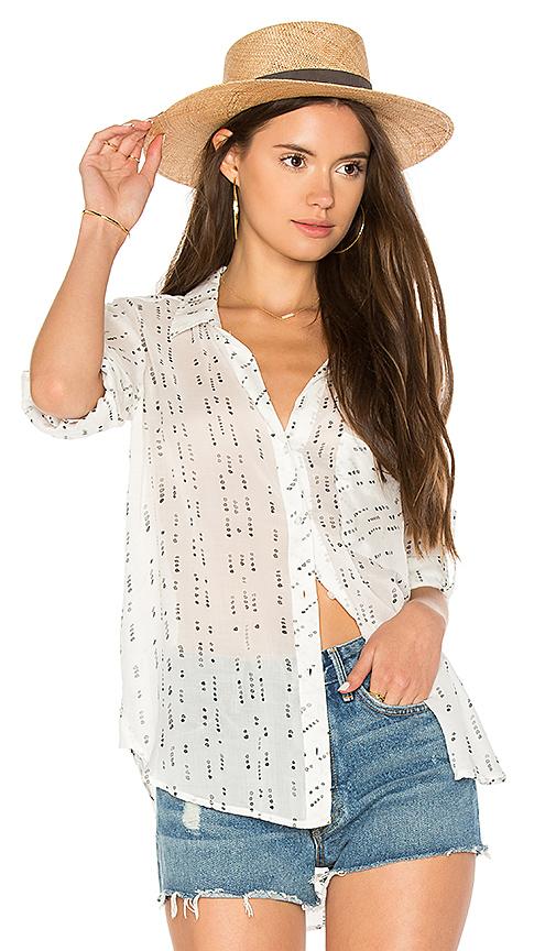 Bella Dahl Shirt Tail Button Down in White