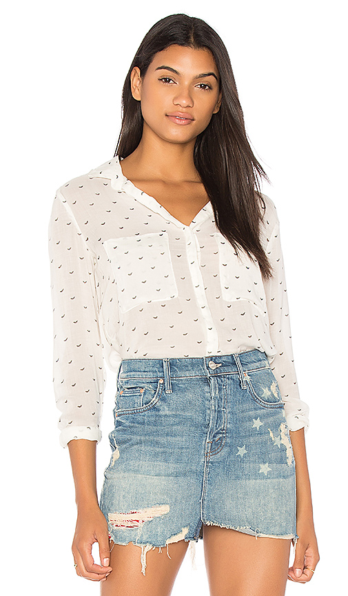 Bella Dahl Hipster Button Down Top in White