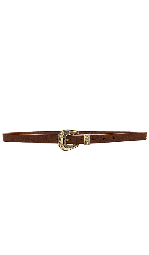 B-Low the Belt Baby Frank Suede Belt in Cognac