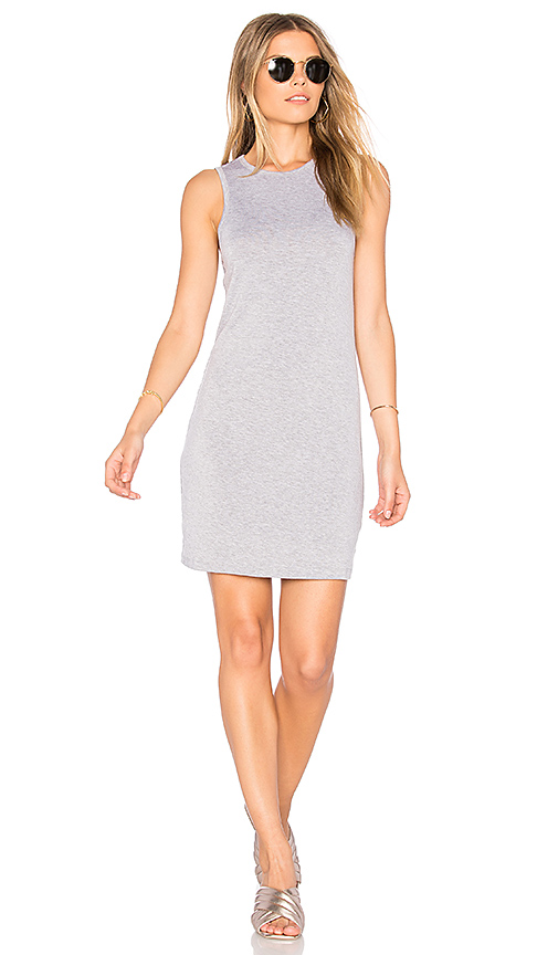 BLQ BASIQ Muscle Tank Mini Dress in Gray