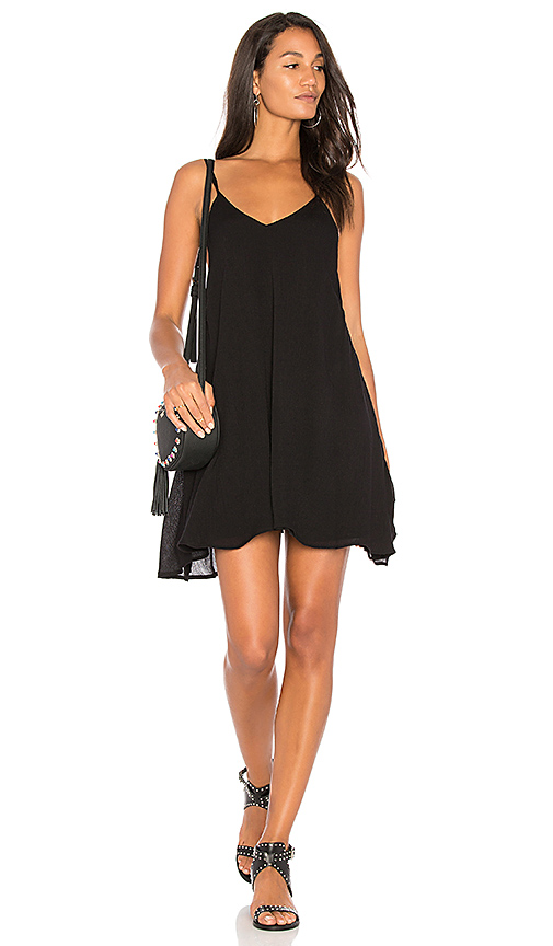 BLQ BASIQ Low Back Tank Dress in Black