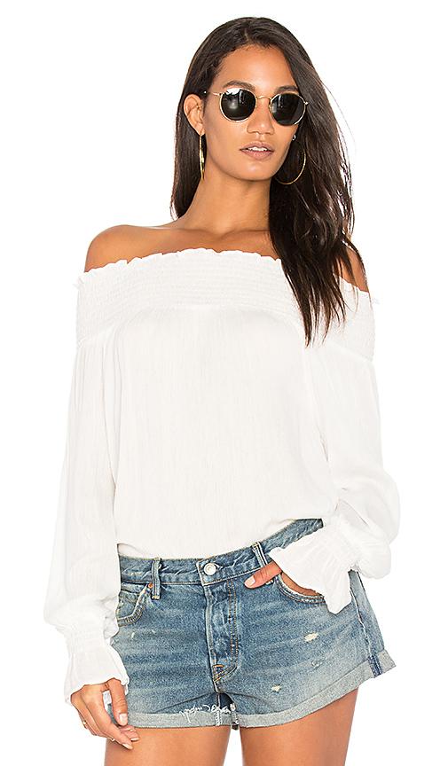BLQ BASIQ Off Shoulder Top in White
